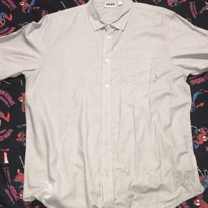 Vans grey colored short sleeve button up